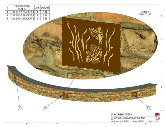 See PDF link in post: DECORATIVE KOI POND HARDSCAPE LIGHT BAFFLES DESIGN PRINTS 1