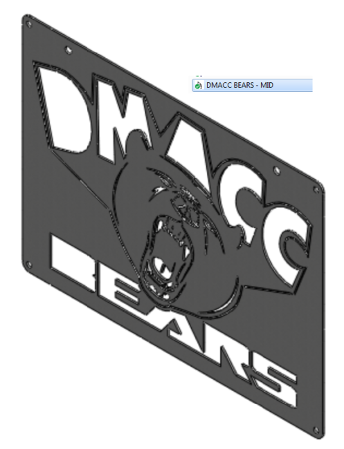 DMACC BEARS LOGO SIGN CAD FILES - 3PC VSN - MID PLATE