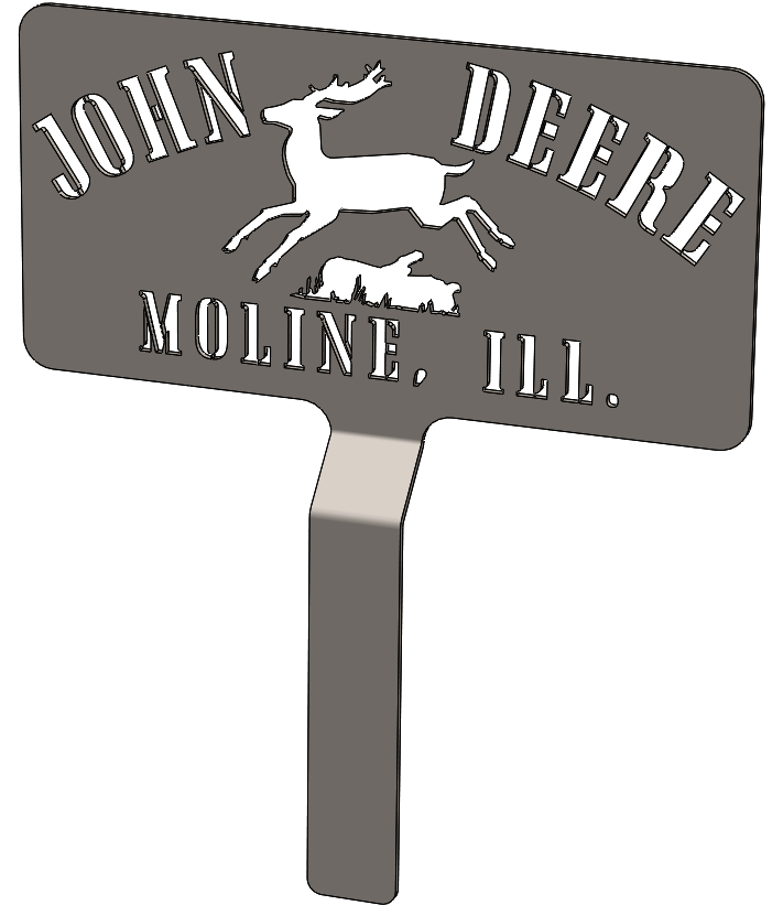 John Deere Moline Ill - Concept for Wood Burn Blowtorch Brand