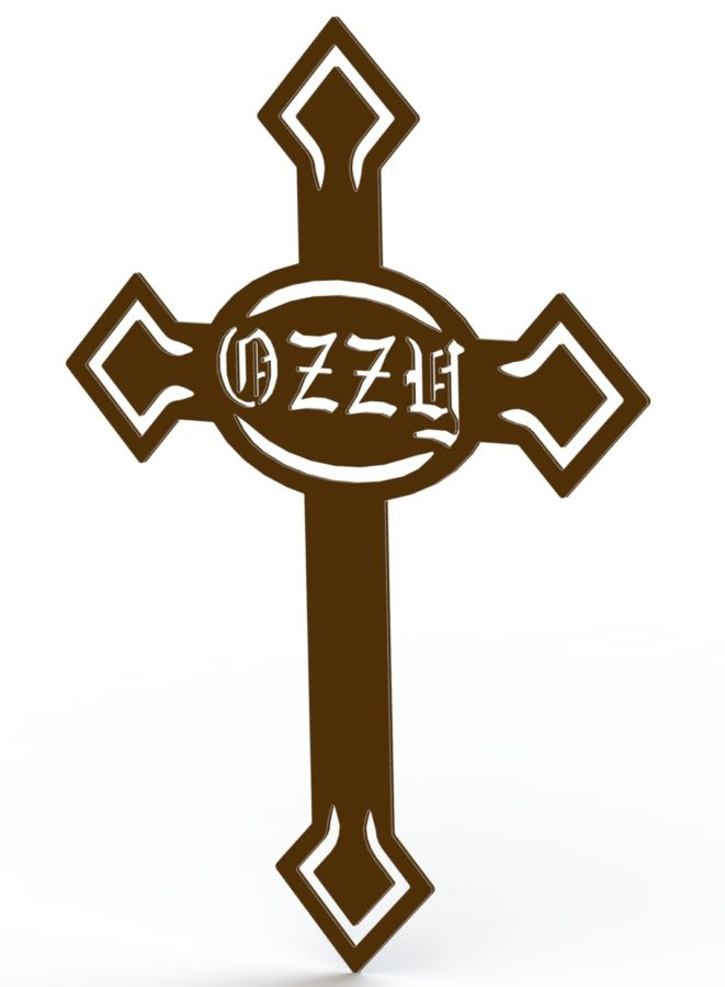 OZZY DOG PET GRAVE MARKER - CARTOON LINES RENDER