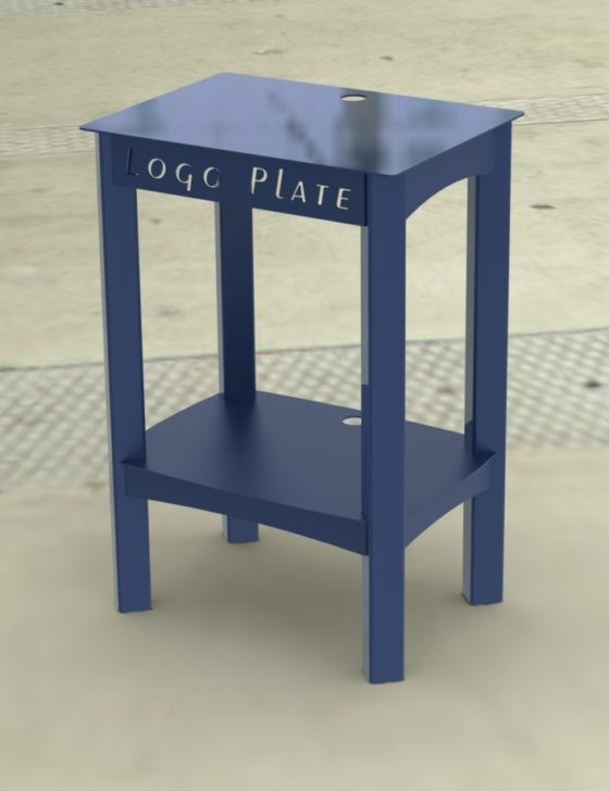 POPCORN MAKER STAND RENDER 1C -- BLUE PAINT