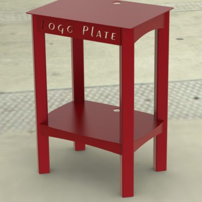 POPCORN MAKER STAND RENDER 1D -- RED PAINTED