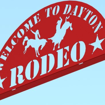 RENDER - DAYTON RODEO WELDED SIGN ASSEMBLY 95IN FRONT 1