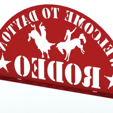 RENDER - DAYTON RODEO WELDED SIGN ASSEMBLY 95IN REAR 2