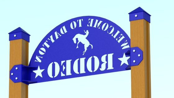 RENDER - DAYTON RODEO WELDED SIGN ASSEMBLY REAR 4