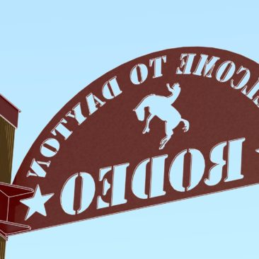 RENDER - DAYTON RODEO WELDED SIGN ASSEMBLY REAR 4CARTOON
