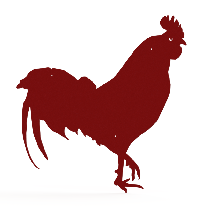 Rendering - FARM SIGNS - RED ROOSTER 24 X 24in - STEEL