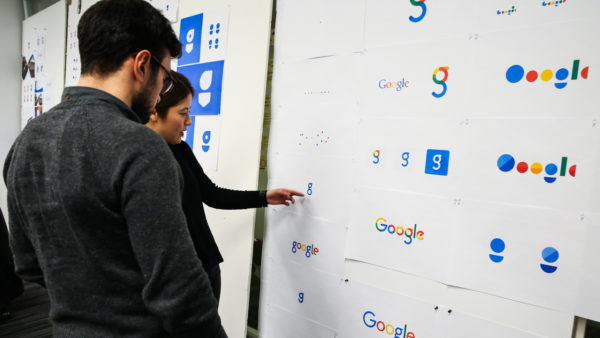 Google Brand Designers on Hour 3 of discussion on whether squiggly G really exists.