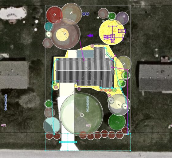 Landscaping Plan in CAD - add sat image from property tax assessor for plot maps