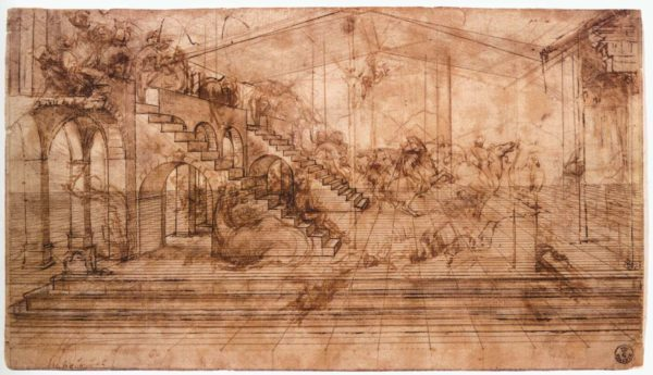 Leonardo da Vinci - Perpectival Study for The Adoration of the Magi circa 1481