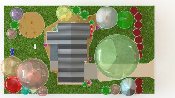 RENDERING - Landscaping Site Plan - SolidWorks CAD - cartoon 5