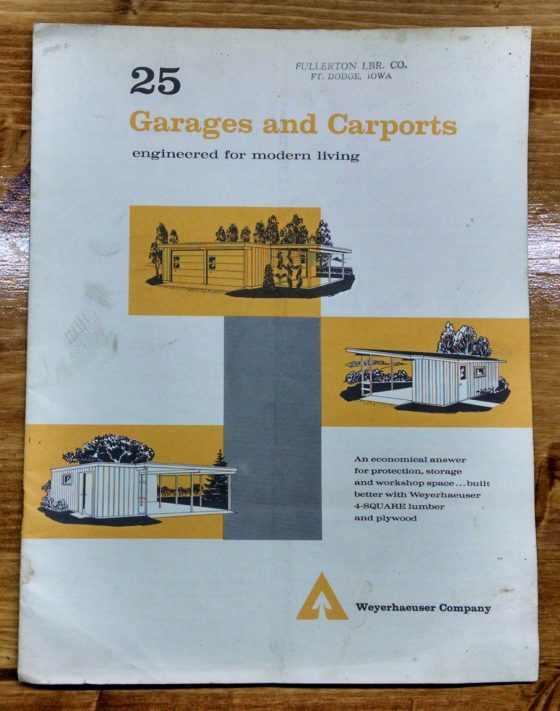 1950S Graphic Design - BROCHURE - Lumber Industry - 25 Garages and Carports - Weyerhaeuser Company 1