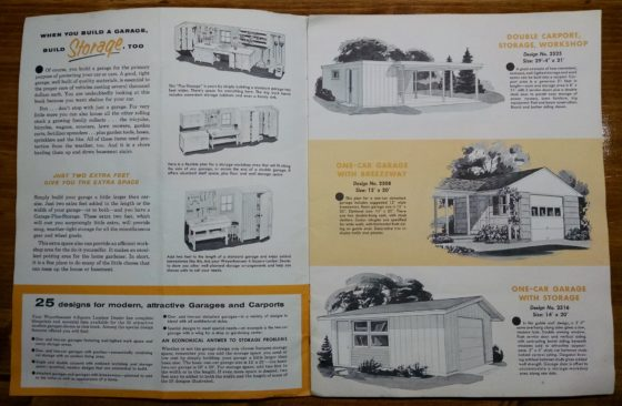 1950S Graphic Design - BROCHURE - Lumber Industry - 25 Garages and Carports - Weyerhaeuser Company 2