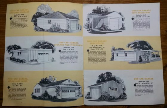 1950S Graphic Design - BROCHURE - Lumber Industry - 25 Garages and Carports - Weyerhaeuser Company 3