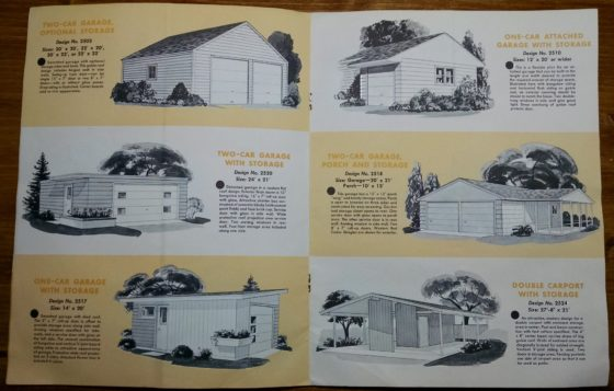 1950S Graphic Design - BROCHURE - Lumber Industry - 25 Garages and Carports - Weyerhaeuser Company 4