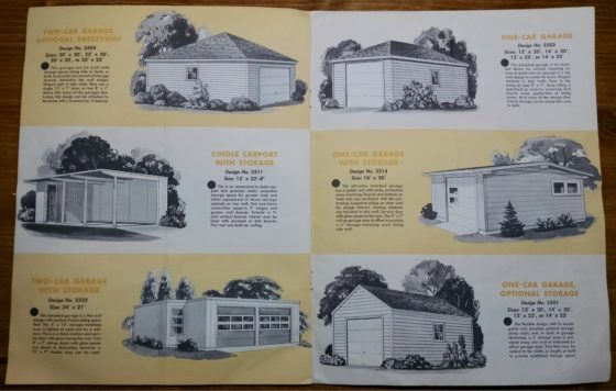 1950S Graphic Design - BROCHURE - Lumber Industry - 25 Garages and Carports - Weyerhaeuser Company 5