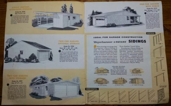 1950S Graphic Design - BROCHURE - Lumber Industry - 25 Garages and Carports - Weyerhaeuser Company 6