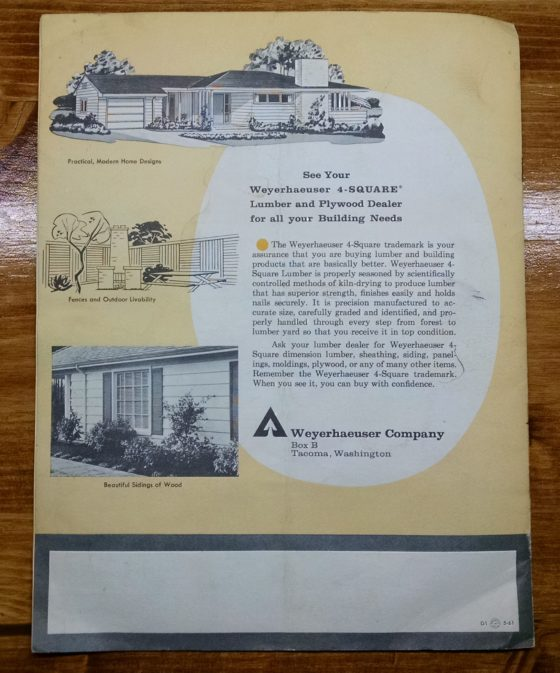 1950S Graphic Design - BROCHURE - Lumber Industry - 25 Garages and Carports - Weyerhaeuser Company 7