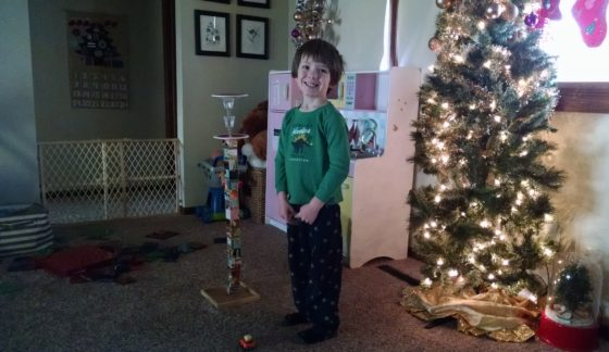 Jack builds a tower on the last day of Advent Calendar