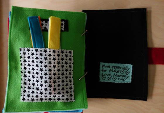 Finished Felt Quiet Books 11a - Chain game and Back Cover Personal Dedication