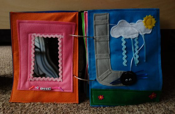 Finished Felt Quiet Books 2 - Mirror and Itsy Bitsy Spider spread