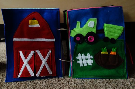 Finished Felt Quiet Books 6 - Lets Talk About Farm Life spread