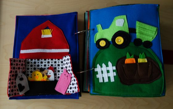 Finished Felt Quiet Books 6a - Lets Talk About Farm Life spread