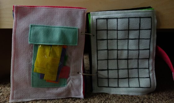 Finished Felt Quiet Books 9 - Tetris Puzzle Game spread