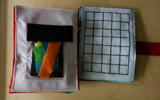 Finished Felt Quiet Books 9a - Tetris Puzzle Game spread