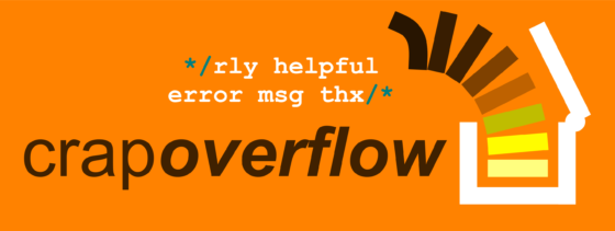 CRAP OVERFLOW orange macro graphic