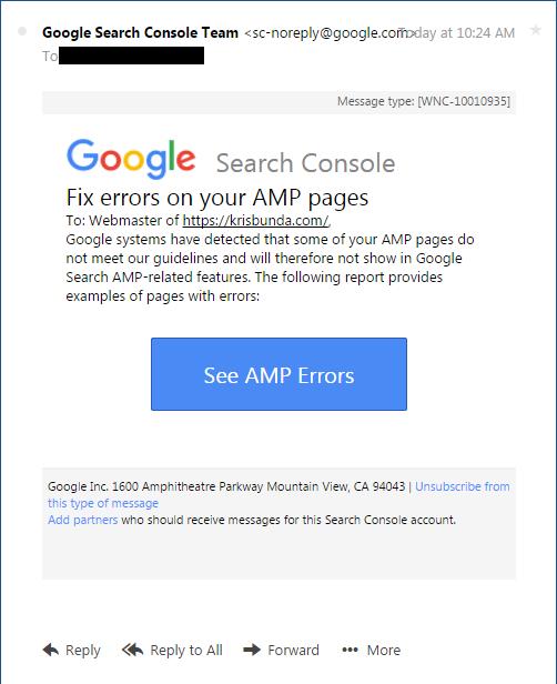 Google Search Console: Fix AMP Error in WordPress