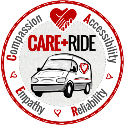 CARE RIDE LOGO - ROUND PATCH GAUZE SQUARE 1450px