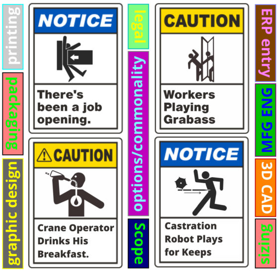 COMMON SAFETY WARNING DECALS