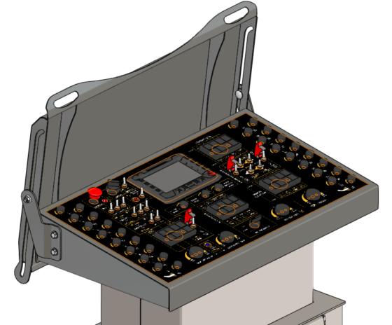 Machine Conrtols Panel - Rapid-prototyped Lid weldment & assembly