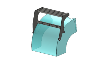 Animation of Flip-Up Undercarriage Step Design