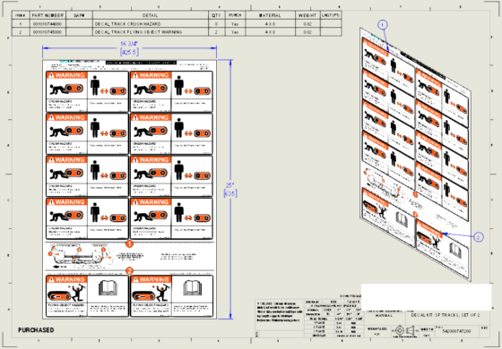DESIGNING A MACHINE DECALS PACKAGE - 3D CAD FILE 11g PART LEVEL