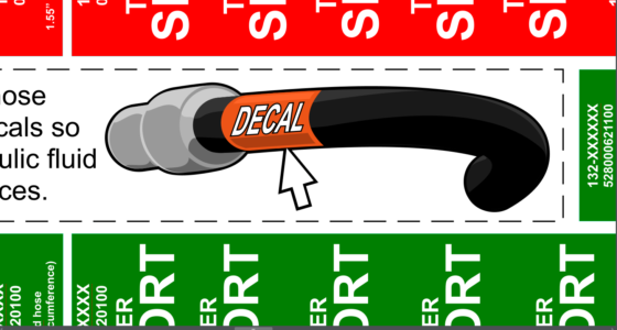 DESIGNING A MACHINE DECALS PACKAGE - SPECIAL INSTRUCTION & PICTOGRAPHS 2