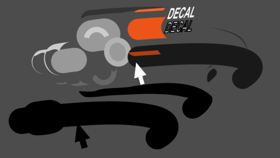 DESIGNING A MACHINE DECALS PACKAGE - SPECIAL INSTRUCTION & PICTOGRAPHS EXPLODED