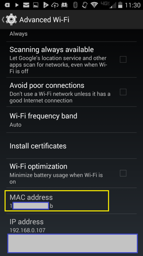 Screenshot FIND ANDROID PHONE MAC ADDRESS 2