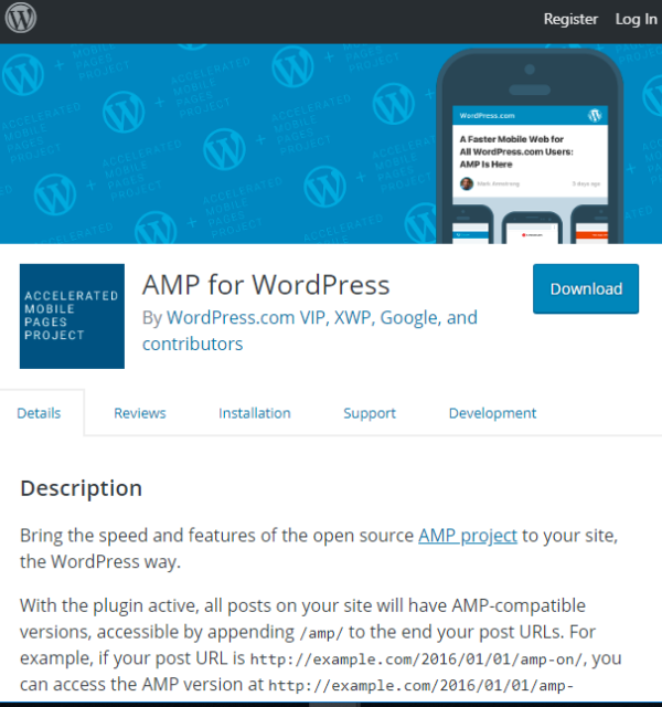 AMP for WordPress plugin