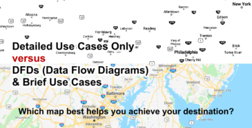 Map Analogy - DFD Data Flow Diagram vs Detailed Use Cases Only