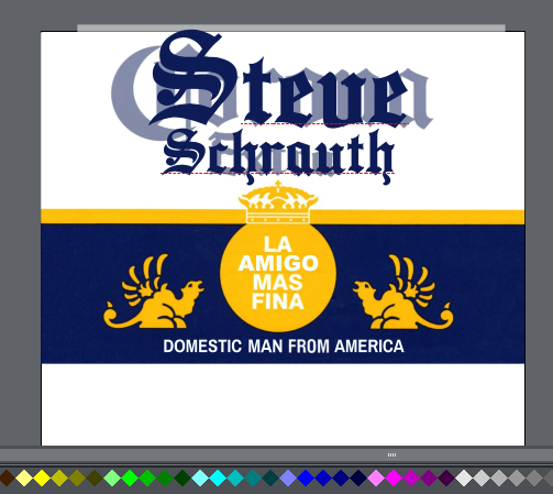 Corona Koozie Process 4 - How would centering type look