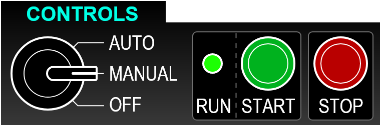 Controls UI - Cluster - Selector Switch, Buttons, Status Light