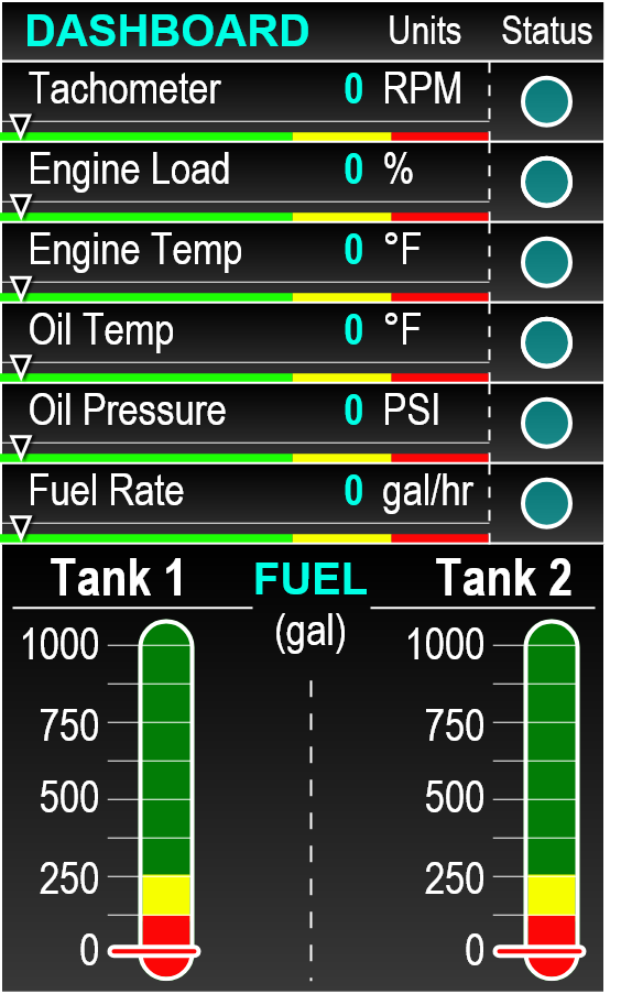 Controls-UI-DASHBOARD-OFF-STATE-Diesel-Generator-GUI-gauges-feedback-cluster