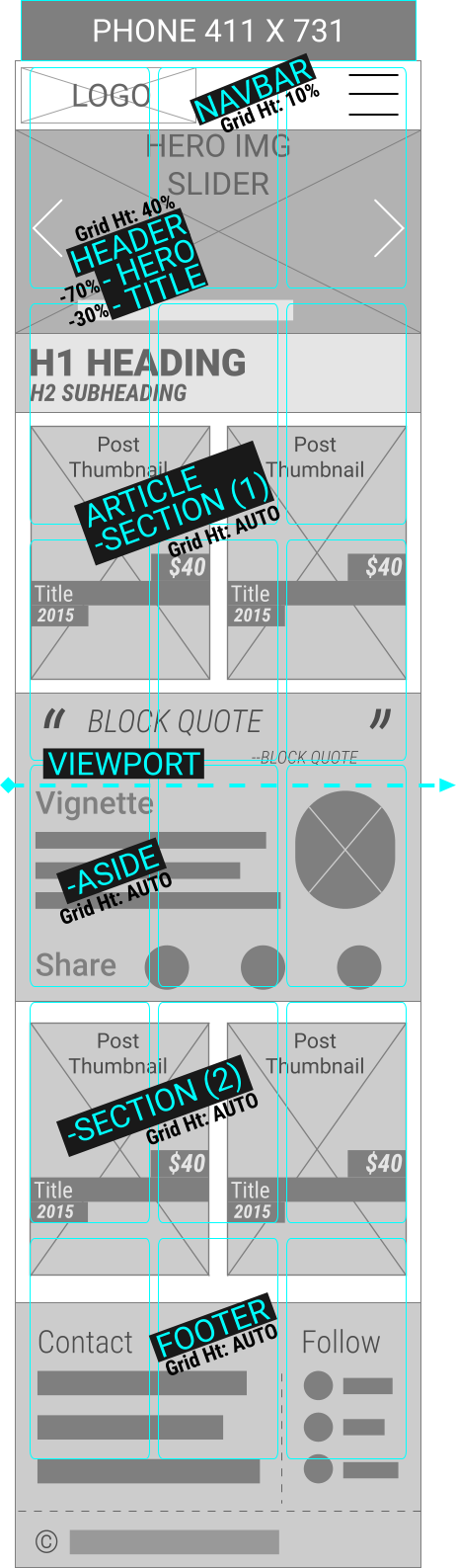 WIREFRAME OF MOBILE WEBSITE CREATED IN INEXPENSIVE WYSIWYG VECTOR EDITOR AND WEBSITE UPLOADER PROGRAM