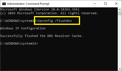 to flush dns cache, type this in Command Prompt: ipconfig /flushdns